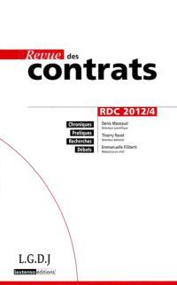 Revue des contrats. n° 4 (2012)