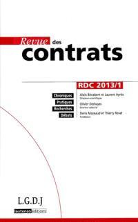 Revue des contrats. n° 1 (2013)