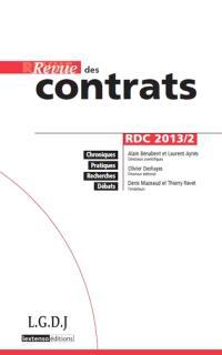 Revue des contrats. n° 2 (2013)