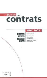 Revue des contrats. n° 1