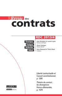 Revue des contrats. n° 4 (2013)