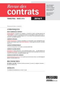 Revue des contrats. n° 1 (2014)