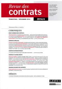 Revue des contrats. n° 4 (2014)