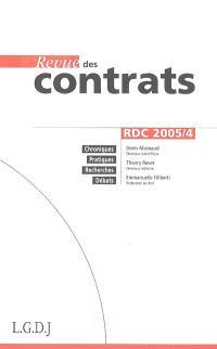 Revue des contrats. n° 4 (2005)
