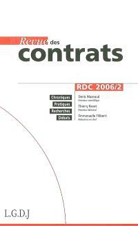 Revue des contrats. n° 2 (2006)