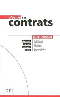Revue des contrats. n° 4 (2006)