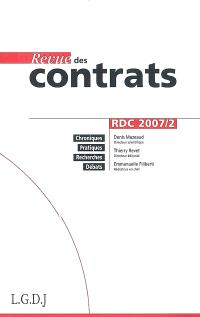 Revue des contrats. n° 2 (2007)