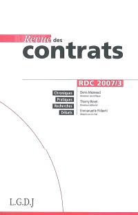 Revue des contrats. n° 3 (2007)