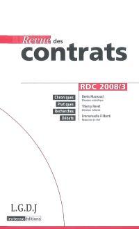 Revue des contrats. n° 3 (2008)