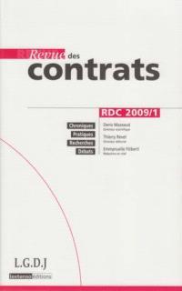 Revue des contrats. n° 1 (2009)