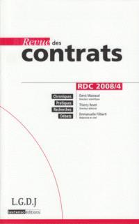 Revue des contrats. n° 4 (2008)