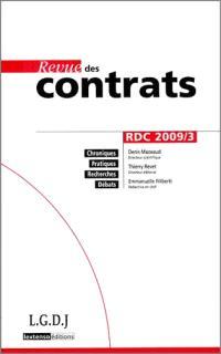 Revue des contrats. n° 3 (2009)
