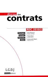 Revue des contrats. n° 2 (2010)