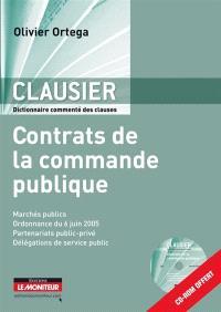 Clausier : contrats de la commande publique : recueil commenté des clauses