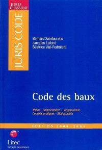 Code des baux 2004-2005