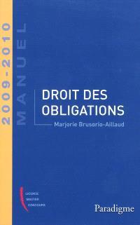 Droit des obligations : 2009-2010