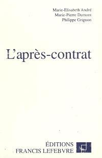 L'après-contrat