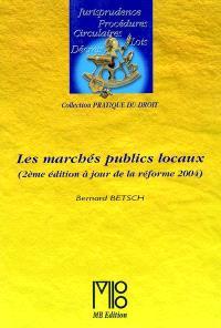 Les marchés publics locaux