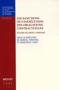 Les sanctions de l'inexécution des obligations contractuelles : études de droit comparé