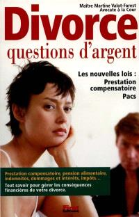 Le divorce : questions d'argent