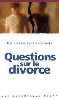 Questions sur le divorce