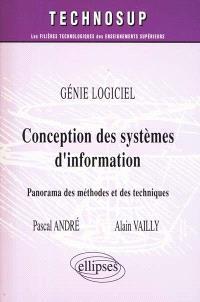Conception des systèmes d'information : génie logiciel : panorama des méthodes et des techniques