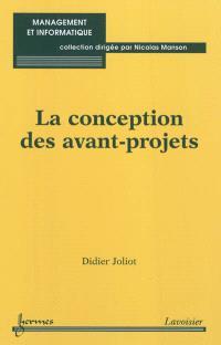 La conception des avant-projets