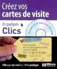 Créez vos cartes de visite