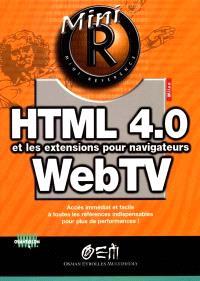 HTML 4.0 et les extensions pour navigateurs WebTV