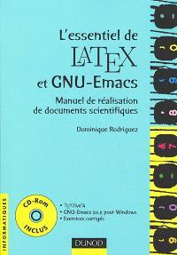 L'essentiel de LaTeX et GNU-Emacs : manuel de réalisation de documents scientifiques