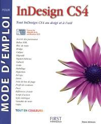 Mode d'emploi pour InDesign CS4