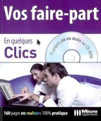 Vos faire-part : 15 projets clé en main sur CD-ROM