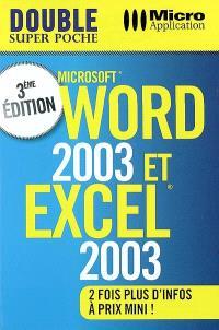 Word 2003 et Excel 2003