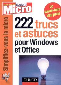 222 trucs et astuces pour Windows et Office