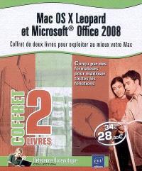 Mac OS X Leopard et Microsoft Office 2008 : coffret de deux livres pour exploiter au mieux votre Mac