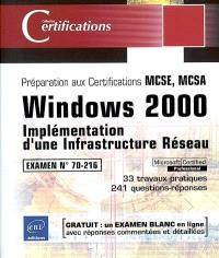 Windows 2000 : implémentation d'une infrastructure réseau
