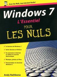 Windows 7 : l'essentiel pour les nuls