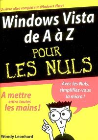 Windows Vista de A à Z pour les nuls