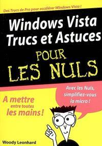 Windows Vista, trucs et astuces pour les nuls