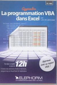 Apprendre la programmation VBA dans Excel : formation complète en plus de 12 h