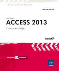 Access 2013 : 33 exercices et corrigés