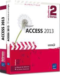 Access 2013 : coffret de 2 livres