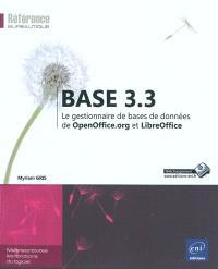 Base 3.3 : le gestionnaire de bases de données de OpenOffice.org et LibreOffice