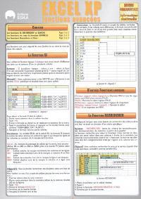 Excel XP fonctions avancées