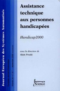 Journal européen des systèmes automatisés. n° 6-7 (2000), Assistance technique aux personnes handicapées