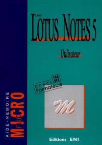 Lotus Notes 5 utilisateur