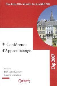 Plate-forme AFIA : Grenoble, du 4 au 6 juillet 2007. Volume 1, Actes de la conférence Cap 2007