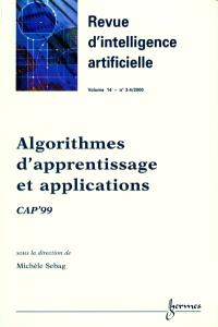 Revue d'intelligence artificielle. n° 3-4 (2000), Algorithmes d'apprentissage et applications : CAP'99