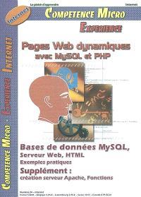 Compétence Micro. Expérience. n° 24, Pages Web dynamiques avec MySQL et PHP