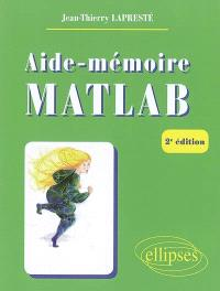 Aide-mémoire Matlab